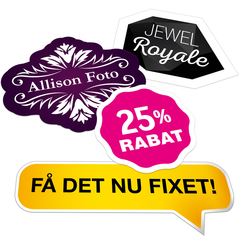 Klistermærker, labels, stickers